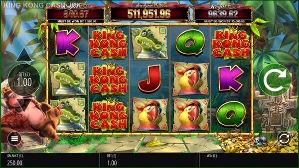 Blueprint Gaming's King Kong Cash returns with Jackpot King integration