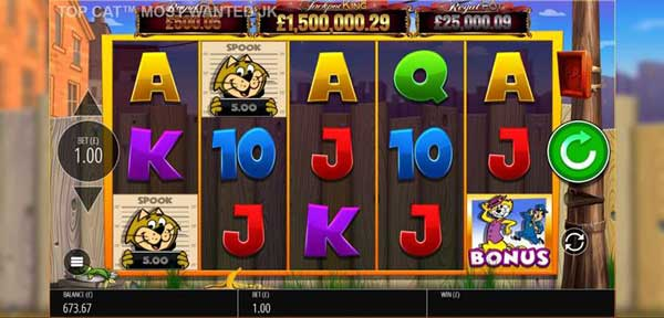 Blueprint bolsters Jackpot King series with Top Cat™  Most Wanted