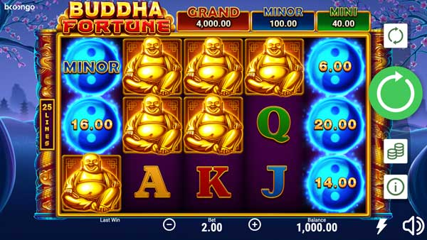 Join the quest for enlightenment with Booongo's Buddha Fortune