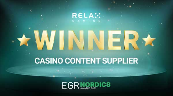 Relax Gaming sets the bar with Casino Content Supplier at EGR Nordics Awards