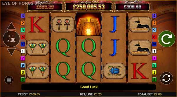 Blueprint Gaming's all-seeing Eye of Horus joins Jackpot King series