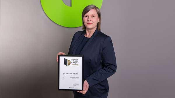 GAMOMAT lands brace of titles at prestigious 2021 German Brand Awards
