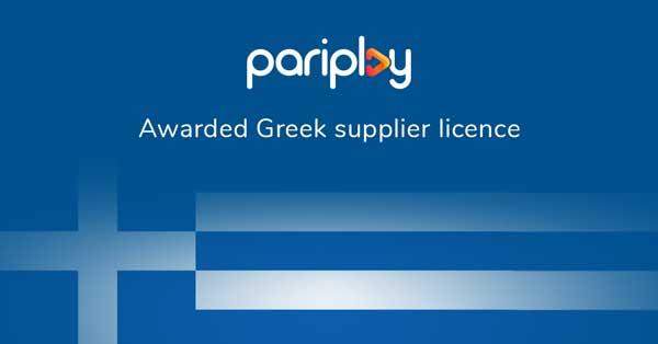 Pariplay awarded Greek supplier licence