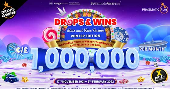 PragmaticPlay continues to raise the bar by giving away €1,000,000 per month through their powerhose Drops & Wins promotion